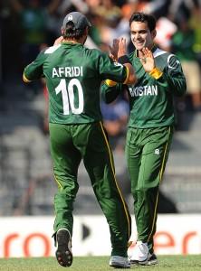 Shahid Afridi (L) and Mohammad Hafeez (R) ICC Twenty20 2012