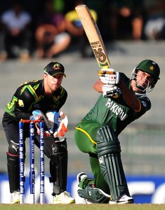 Matthew Wade (L) and Nasir Jamshed (R) ICC Twenty20 2012